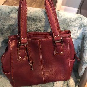 Purple Leather Fossil purse